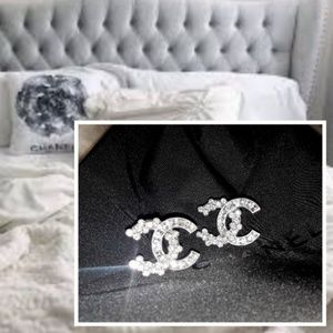 Arrived!!💎Gorgeous New CHANEL Crystal C Studs!💎